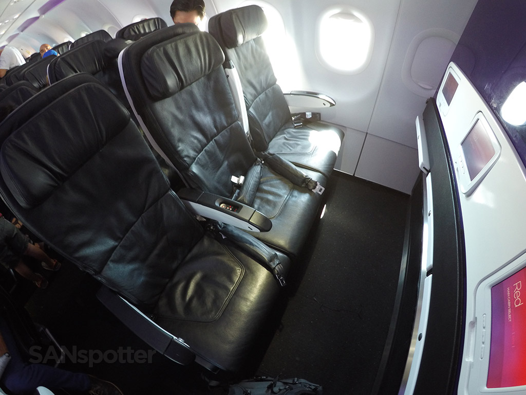 virgin america main cabin select seats