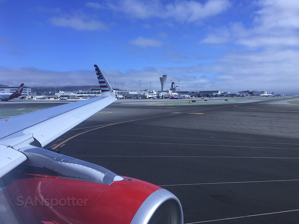 Taxiing out to runway 1R sfo