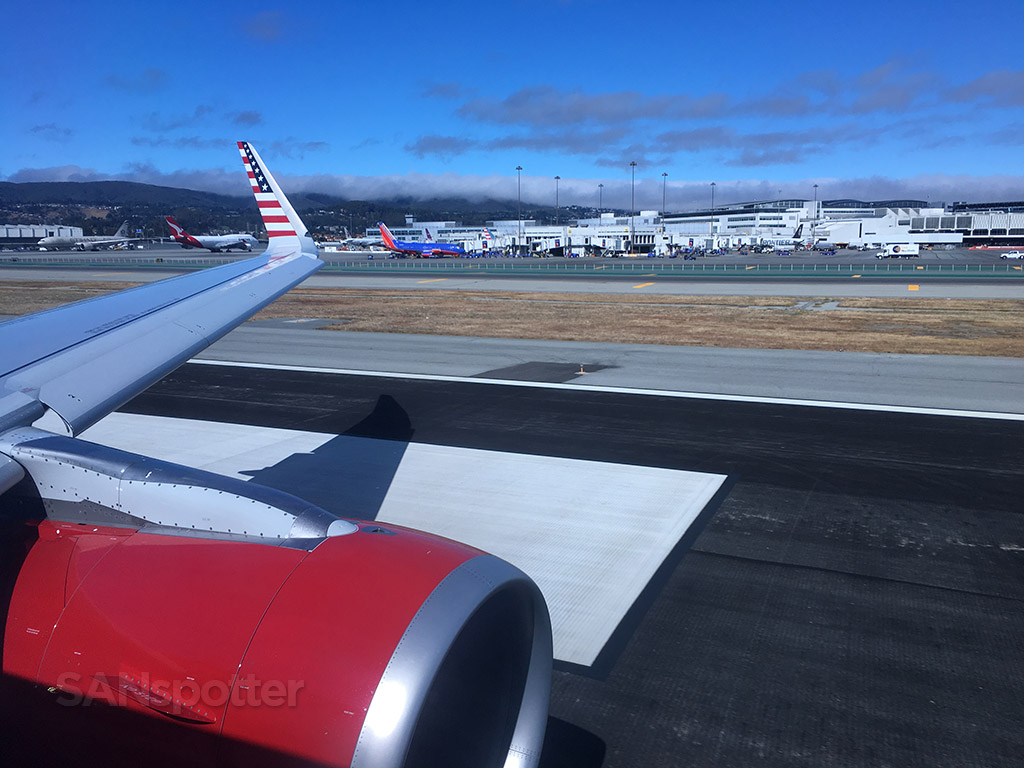 taking off runway 1R SFO
