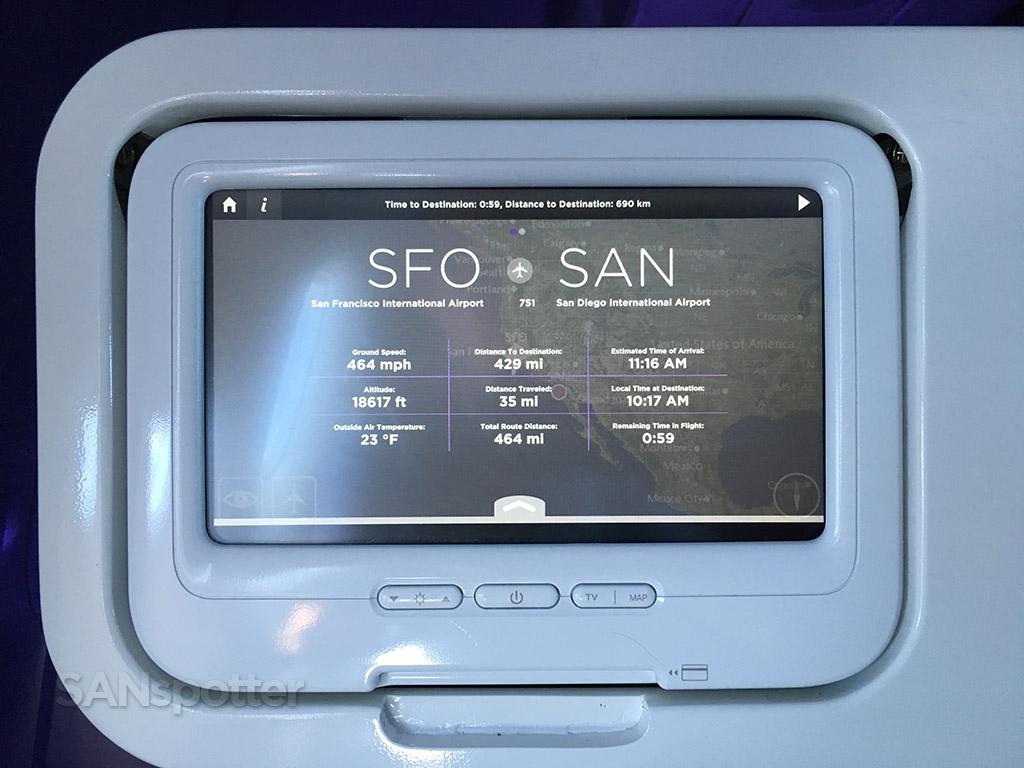 virgin america red flight information screen
