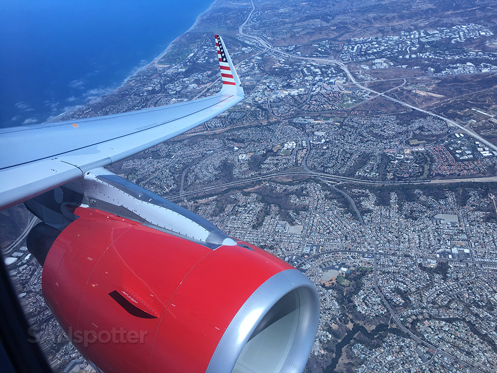 flying over san diego