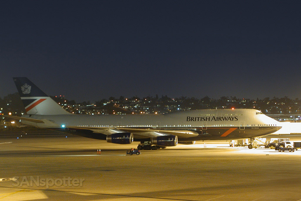 British airways 747-400 SAN G-CIVI