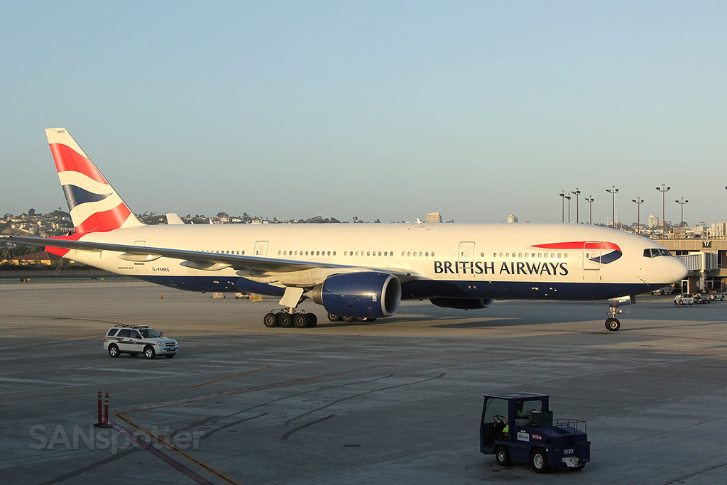 British airways 777-200 SAN G-YMMS