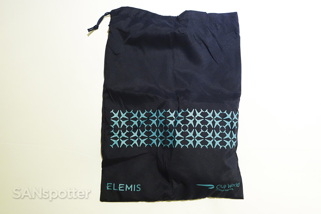 British Airways Club World ELEMIS amenity kit