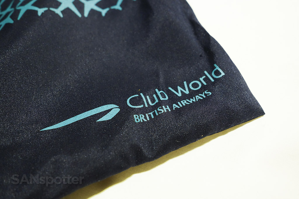 British Airways Club World amenity kit