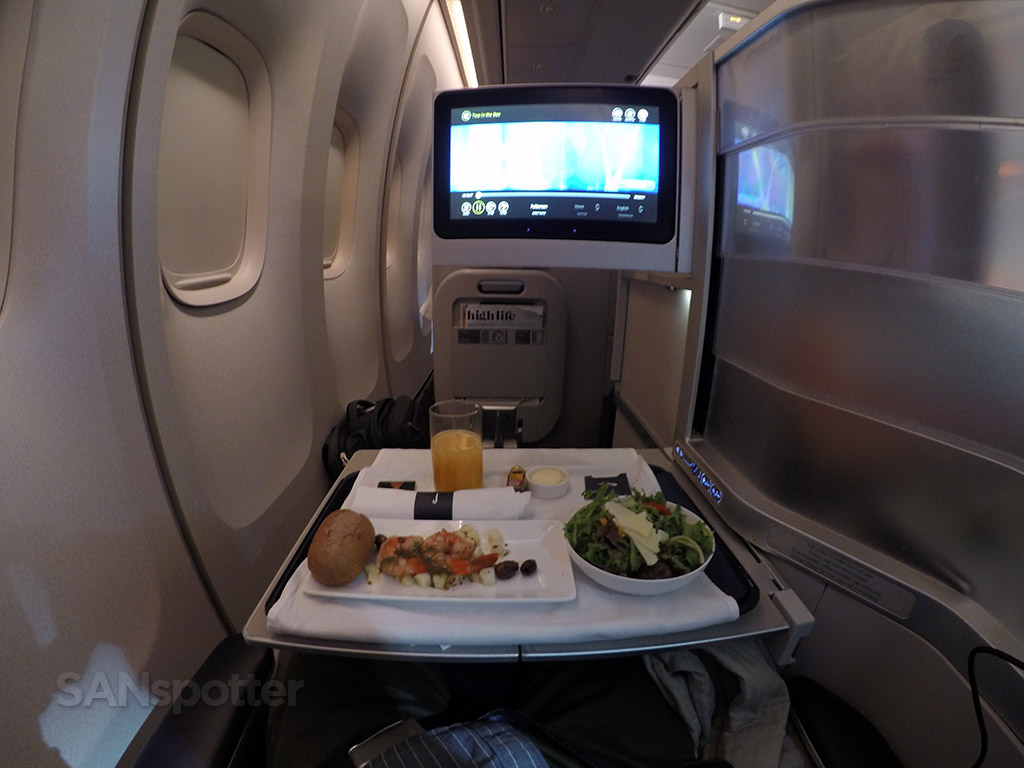 british airways club world dining experience