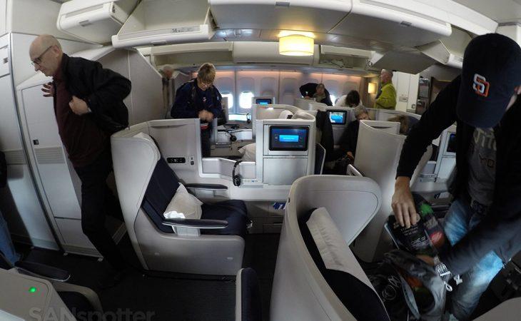 british airways club world cabin