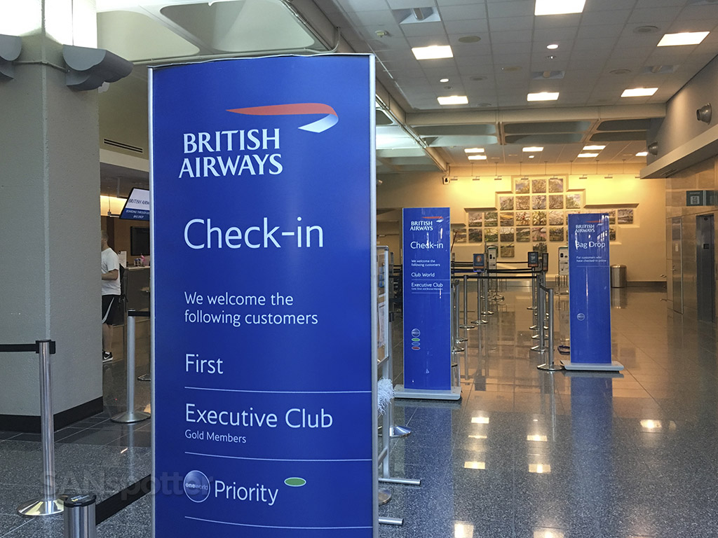 british airways check in san diego airport