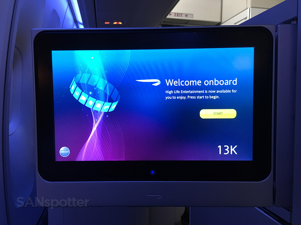 british airways welcome onboard message