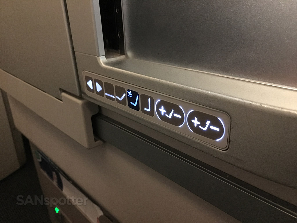 british airways club world seat controls