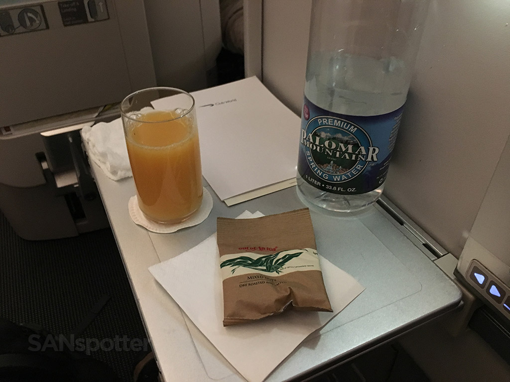 british airways club world snack