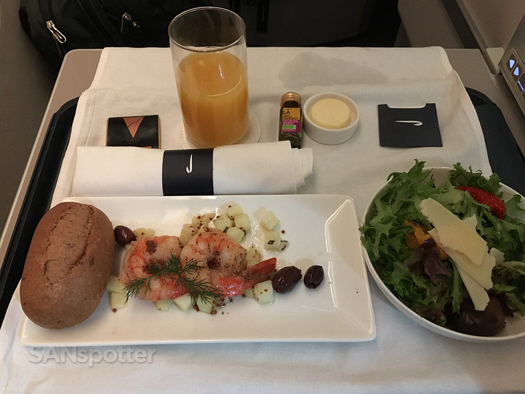 British Airways Club World appetizer