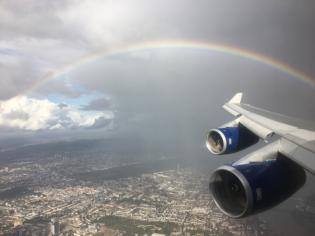 rainbow on approach