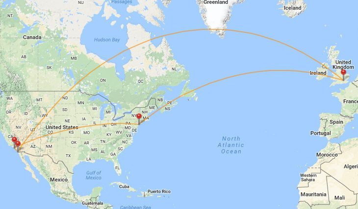 san-lhr-jfk-lax-san route map