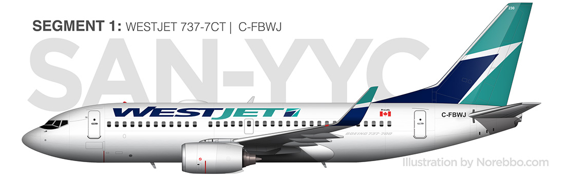 westjet 737-700 side view