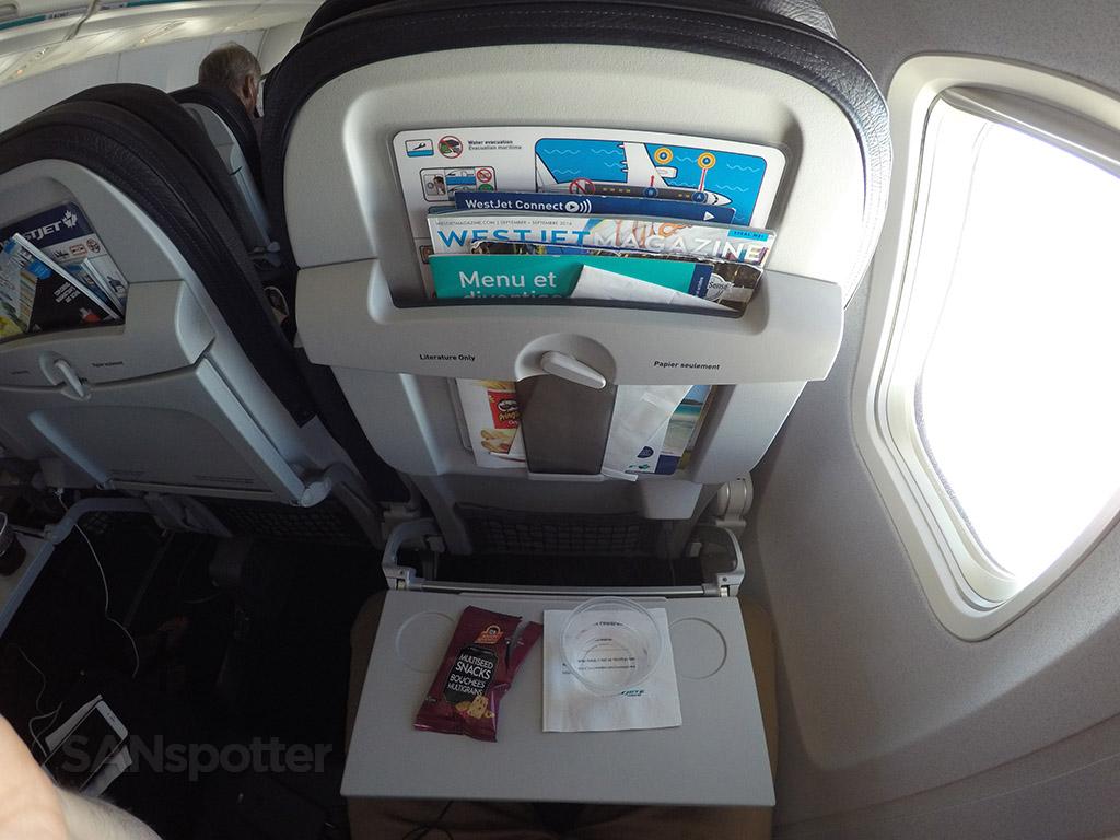 westjet in flight snack