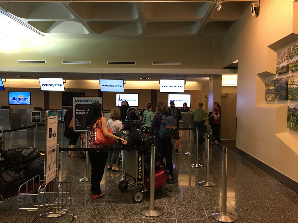 westjet check in san diego airport