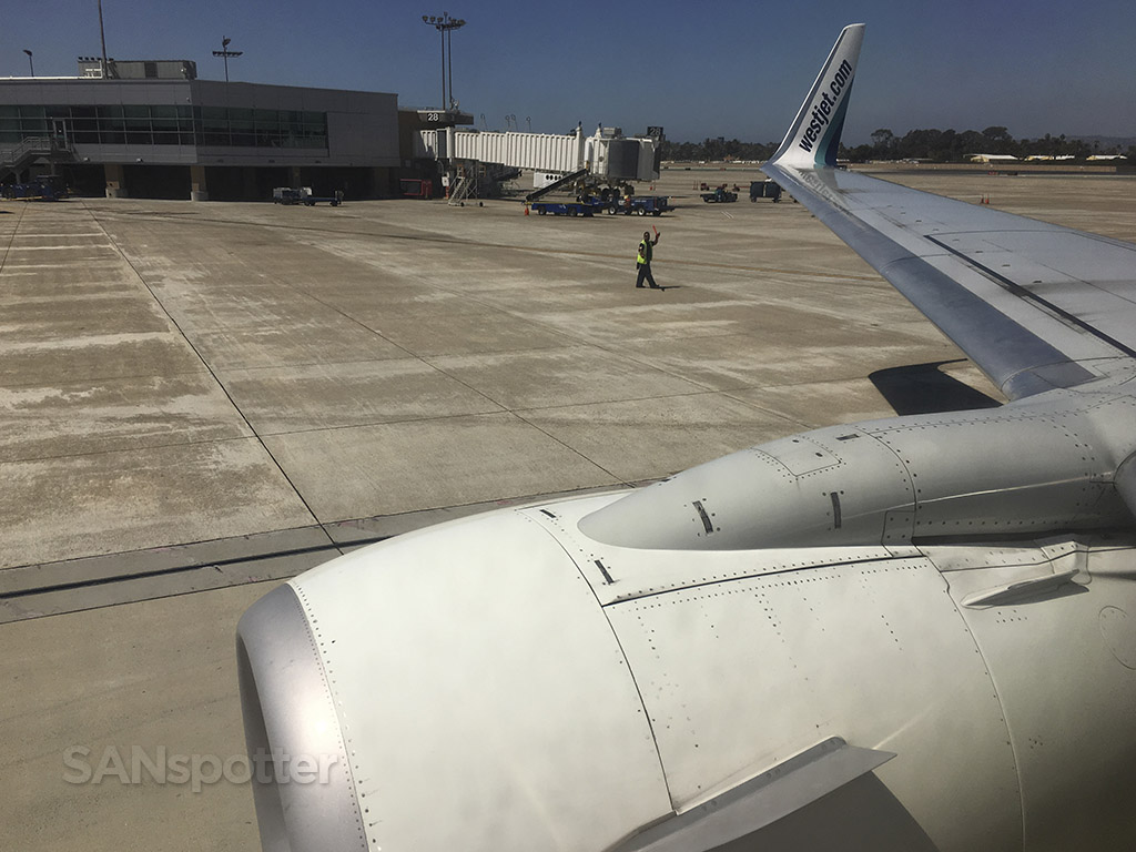 pushing back from gate