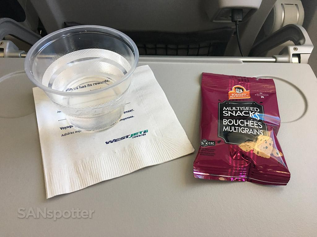 westjet inflight snack