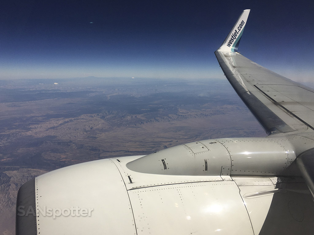 flying over the western US
