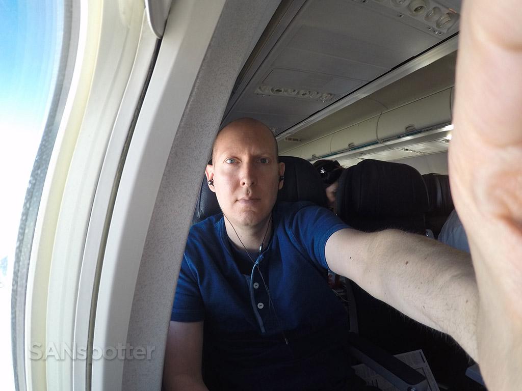 in flight selfie