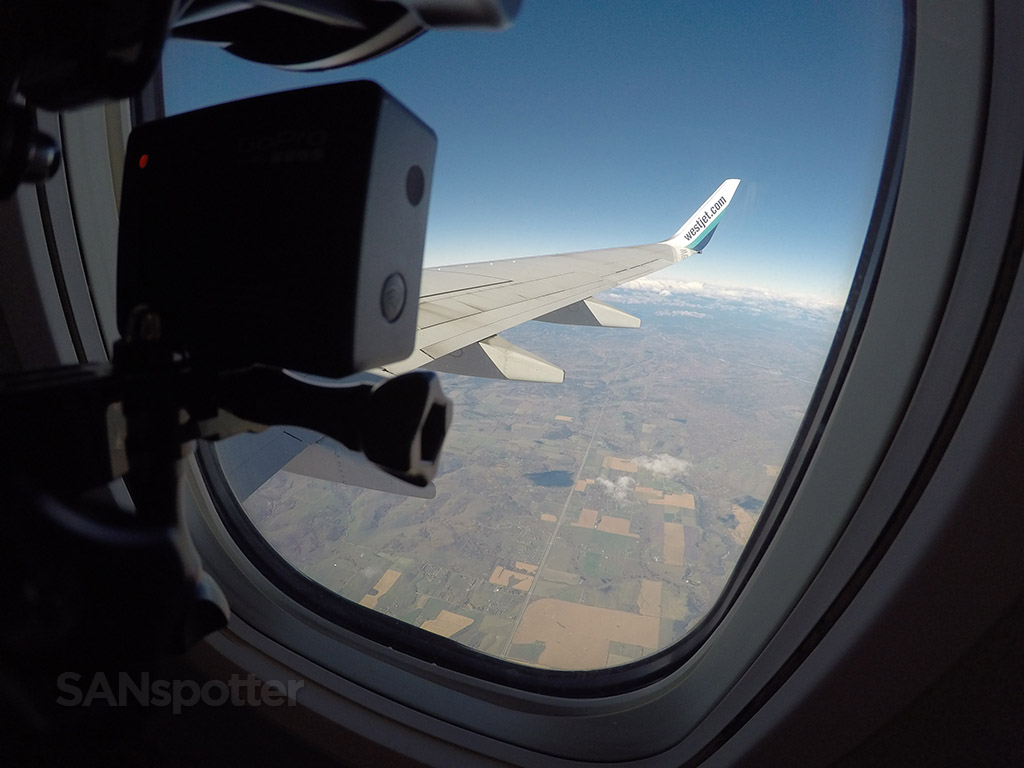 recording take off with GoPro camera