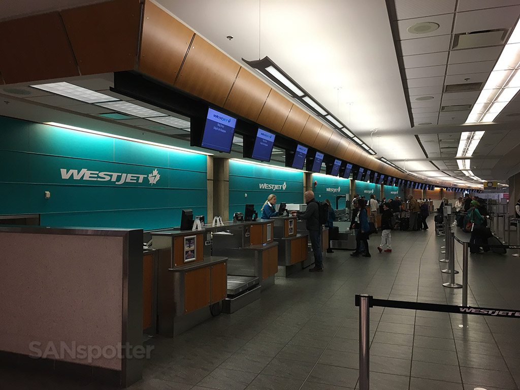 westjet check in yyc calgary airport