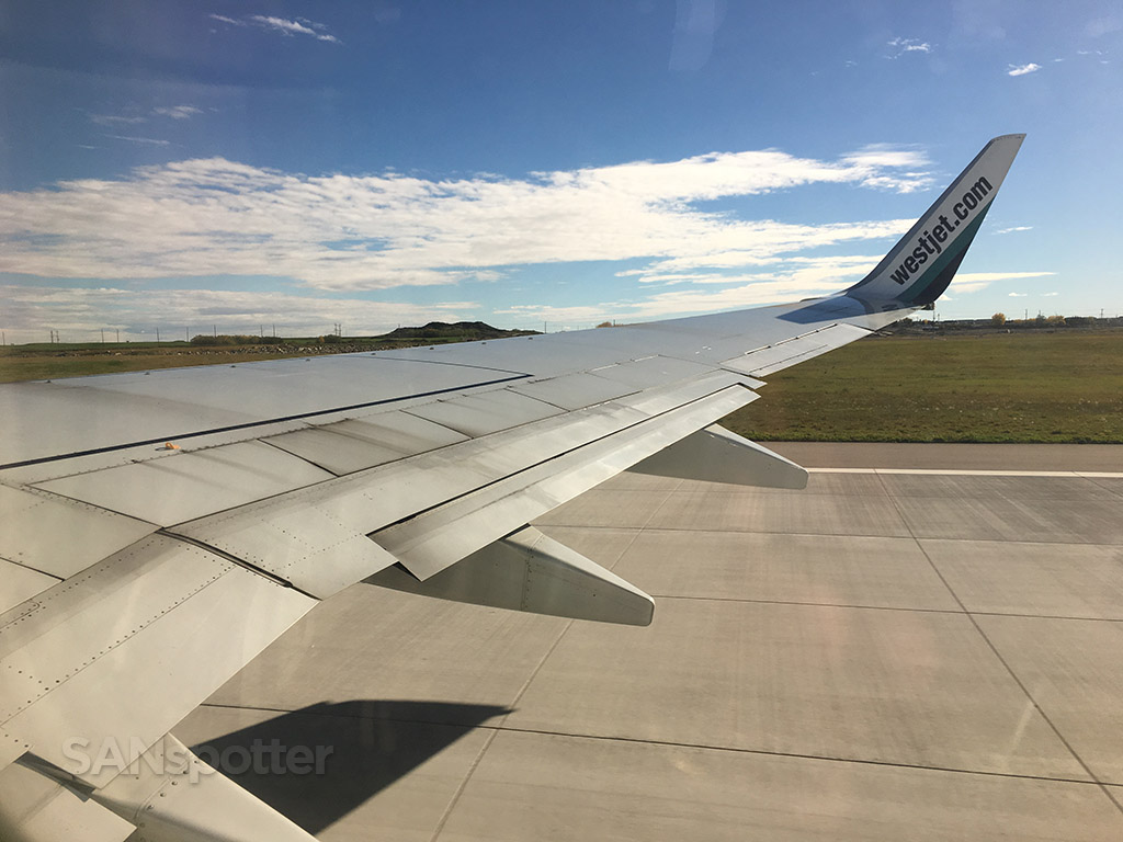 westjet 737-700 departure YYC calgary airport
