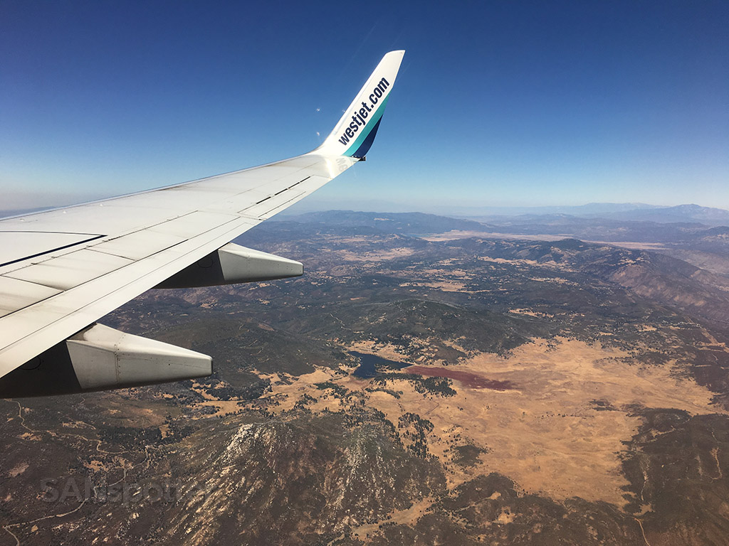 Flying over eastern San Diego county