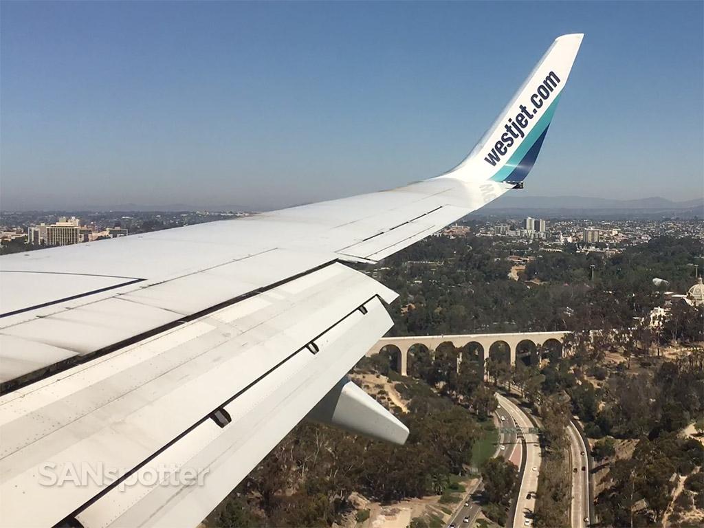 westjet 737-700 san Diego