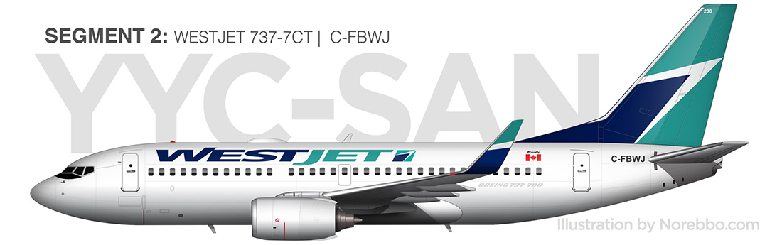 westjet 737-700 side view