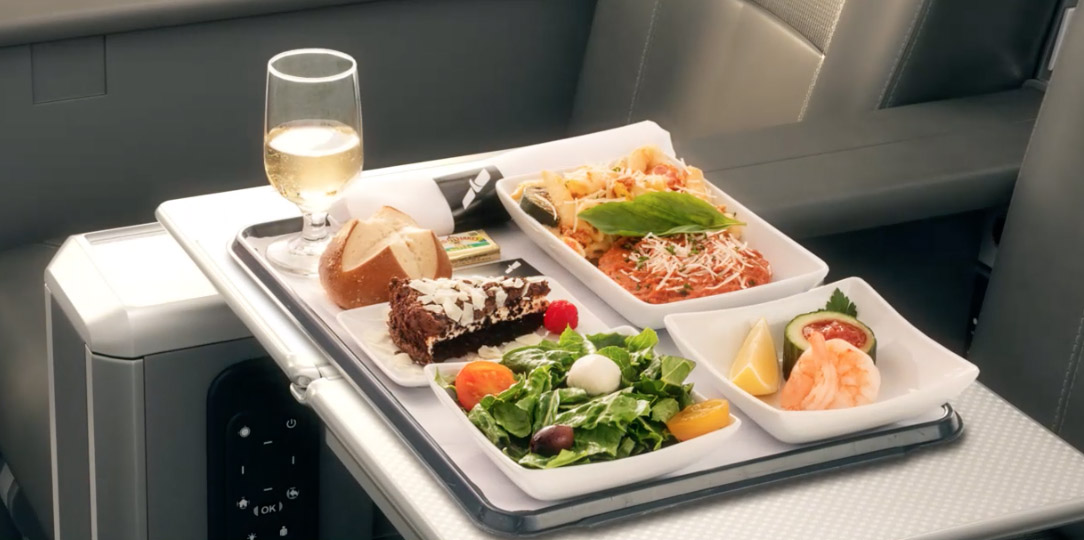 American Airlines new premium economy food
