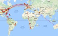 Casey Neistat travel map