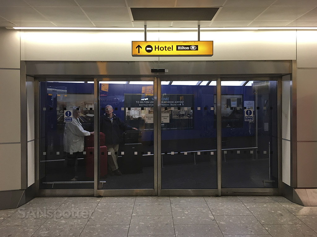 hilton terminal 4 heathrow entrance
