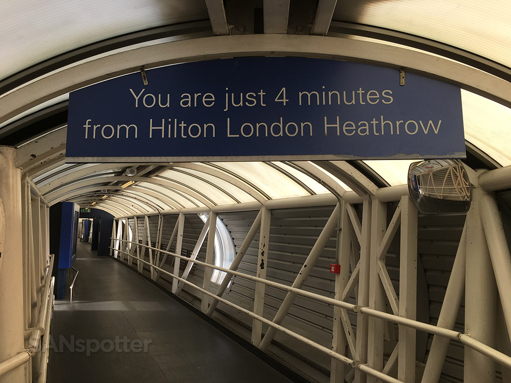 hilton terminal 4 heathrow tunnel