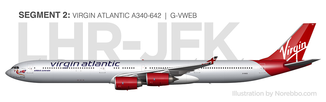 Virgin Atlantic A340-600 (G-VWEB) side view