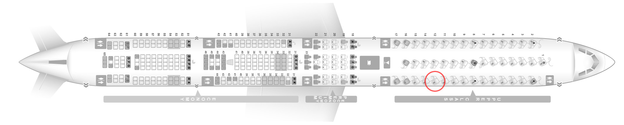 Virgin Atlantic A340-600 seat map