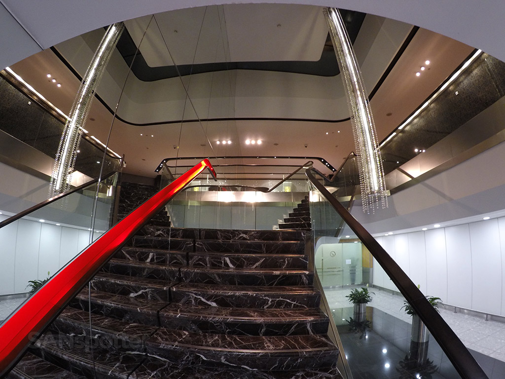Virgin Atlantic Upper Class lounge stairs
