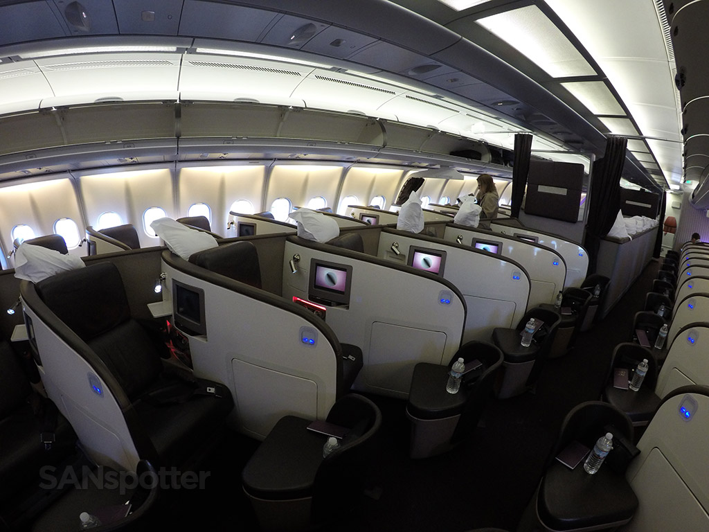 Virgin Atlantic A340-600 Upper Class cabin