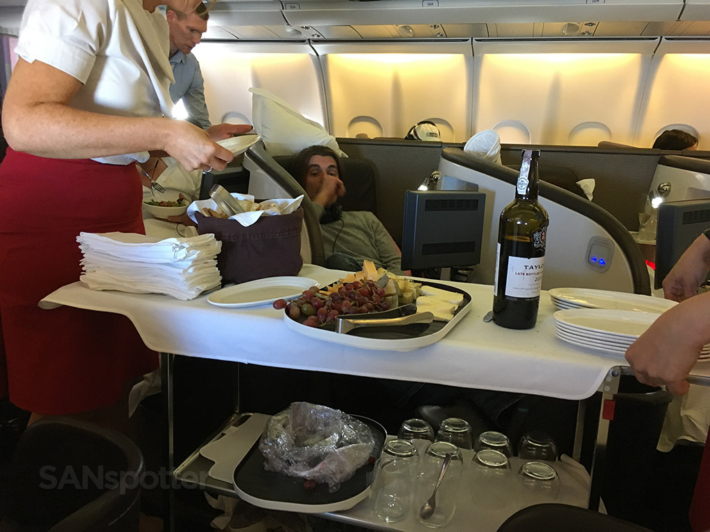 virgin atlantic cheese and port