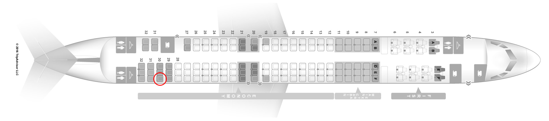 MD-83 seat map american airlines