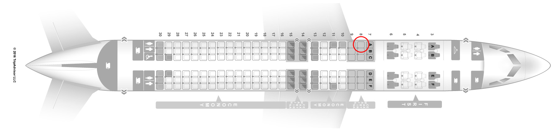 Delta Seat Map on
