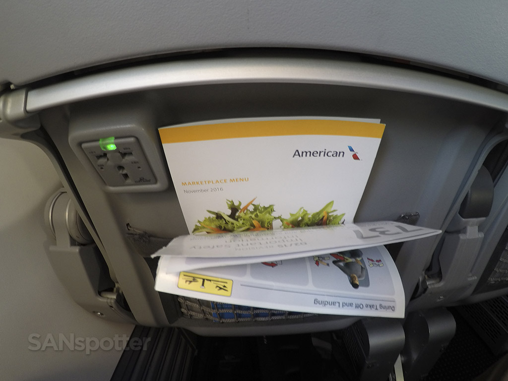american airlines in seat power