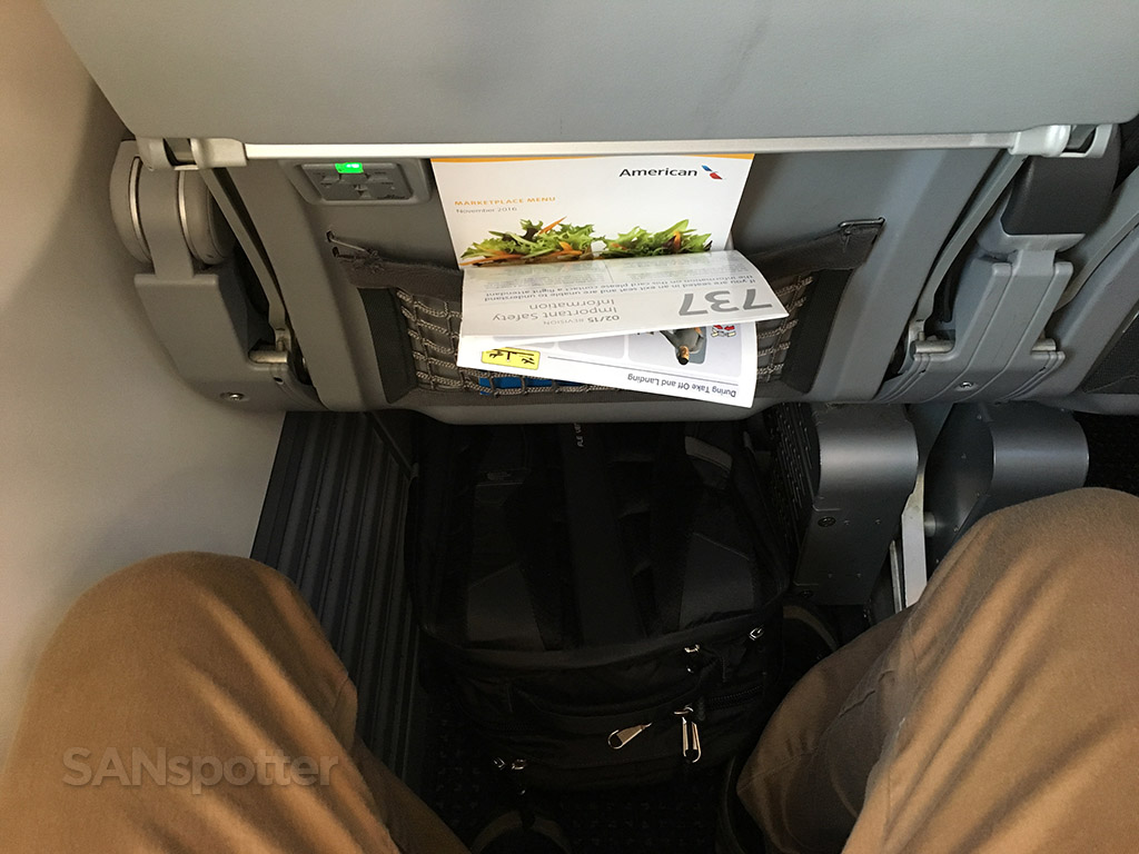 American Airlines 737-800 Main Cabin Extra leg room