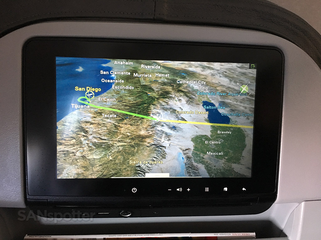 american airlines moving map display