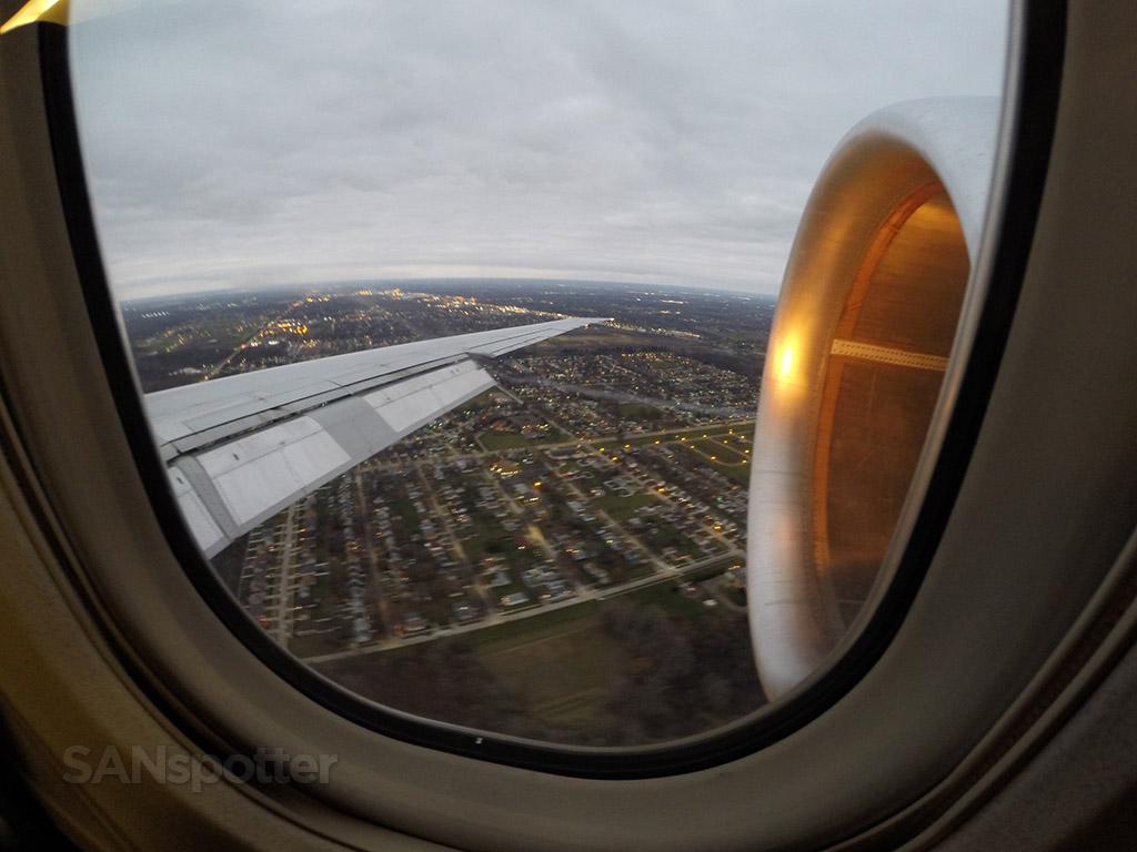 final approach DTW airport