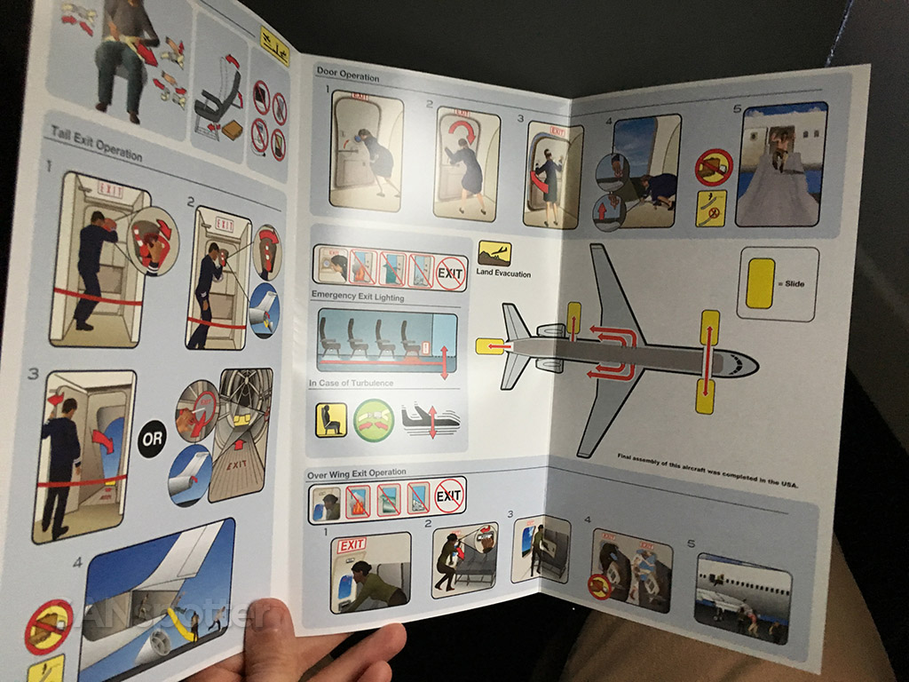 american airlines md-83 safety card