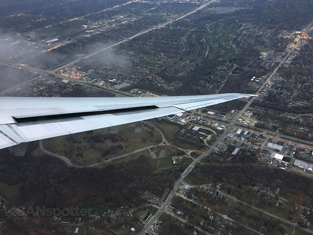 landing at DTW