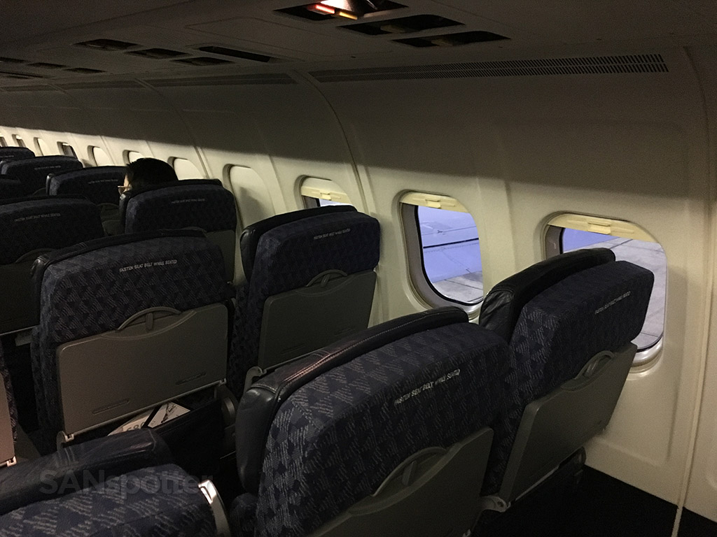 american airlines MD-83 seats and sidewall