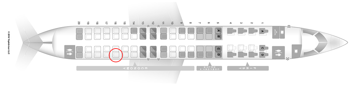 delta connection CRJ-900 seat map